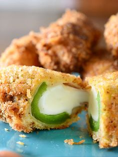 Crispy and crunchy on the outside. Creamy, melt-y and spicy on the inside.