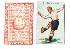 FOOTBALL PICTURE CARD 41 ISSUED BY  DC THOMPSON SHOWING DERBY COUNTY  c1934 ie.picclick.com