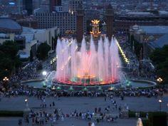 The Magic Fountain. Barcelona. March 2009.