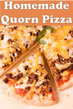 The ultimate homemade meat free vegetarian pizza! Made from Quorn mince you'd think it's an actual meat feast pizza but it's not! Quorn Recipes, Veggie Recipes, Kid Recipes, Veggie Meals, Pizza Recipes, Vegetarian Kids, Tasty Vegetarian Recipes, Meat Feast Pizza, Quorn Mince