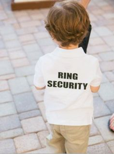 Wedding ideas : so cute : ring security my nephew Zaiden will be wearing this for sure! Lol! B  Bolinger Whetstone