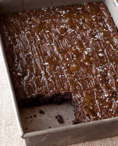 Ina Garten's Salted Caramel Brownies did you know you can make these gluten free and dairy free with betterbatter flour ??