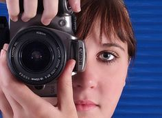 Basic Photography Tips - girl pointing a camera at you