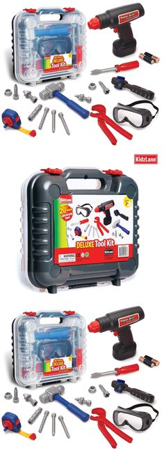 3685820a9 Tool Sets 158747: Durable Kids Tool Set With Electronic Cordless Drill And  18 Pretend Play