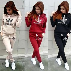 2019 Autumn Winter 2 Piece Set Women Hoodie Pants Printed Tracksuit Pullover Sweatshirt Trousers With Pockets Tracksuit Suits - Women Clothing Online Store Streetwear Mode, Streetwear Fashion, Sporty Outfits, Fashion Outfits, Fashion Clothes, Mens Fashion, Fashion Trends, Sports Crop Tops, Tracksuit Tops