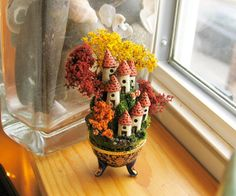 Miniature Autumn French Fairy Houses on the by bewilderandpine, $45.00