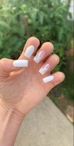 Acrylic Nails Coffin Short, Simple Acrylic Nails, Square Acrylic Nails, Summer Acrylic Nails, Summer Nails, Winter Nails, Coffin Nails, Frensh Nails, Edgy Nails