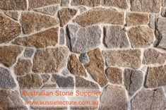 Aussietecture natural stone supplier has a unique range natural stone products for walling, flooring & landscaping. Sandstone Cladding, Sandstone Wall, Natural Stone Wall, Natural Stones, Landscape Design, Garden Design, House Design, Wall Cladding Tiles, Stone Supplier