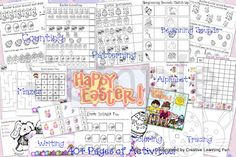 Free Easter Packet - 40 plus pages of activities geared towards preschoolers-first graders