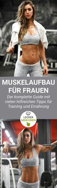 Muskelaufbau als Frau - der komplette Guide. Du willst Muskeln aufbauen und weißt gar nicht wo du überhaupt anfangen sollst? Hier findest du viele hilfreiche Tipps zu Training und Ernährung.