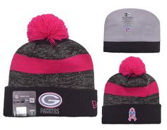 d8ae0ab3402 Men s   Women s Green Bay Packers New Era Heather Gray 2016 Breast Cancer  Awareness Sideline Cuffed