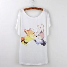 Zootopia Cute Print Casual Tshirt