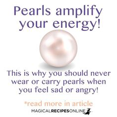 Pearls amplify your energy. sit the post for