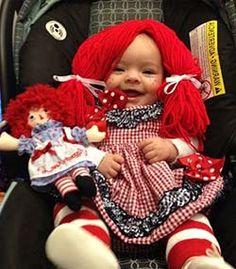 disfraz muñeca de trapo niña