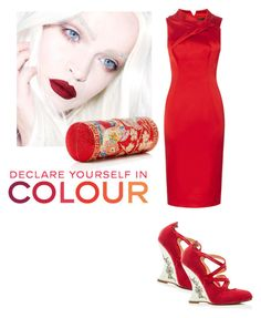 """Declare yourself in colour"" by zabead ❤ liked on Polyvore featuring Marchesa and Chanel"