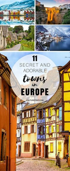 11 Secret and Adorable Towns in Europe You Have to Visit Oh The Places You'll Go, Places To Visit, German Architecture, Pretty Beach, France, Travel Guides, Travel List, European Travel, World Heritage Sites
