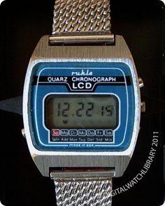 RUHLA - Quarz Chrono LCD - Digital - Vintage Digital Watch - Digital-Watch.com