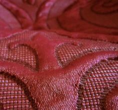 9 yards Glorious Gothic Matelasse Trapunto Upholstery Bedding Decorating Fabric