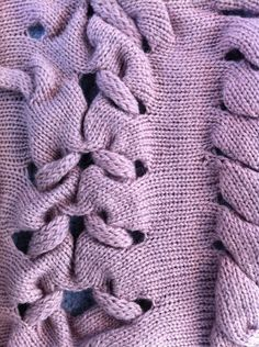 Knitting inspiration: unique cabling