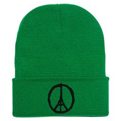 Peace For Paris Embroidered Knit Cap