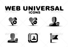 Black Glossy Web Universal Icon Set by antishock Vector illustration. Fully editable vector. All design elements included in EPS file (use of Adobe Illustrator or other vector gra