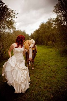 Horses and brides   What a magical picture!