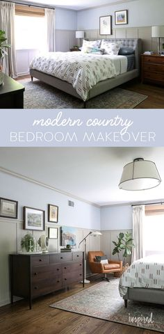 After six weeks, the One Room Challenge is complete, and I'm ready to reveal my new Master Bedroom! Modern Country Bedrooms, Country Bedroom Design, Master Bedroom Design, Bedroom Storage, Bedroom Decor, Master Bedroom Makeover, Furniture Decor, Interior Design, Pinterest Board