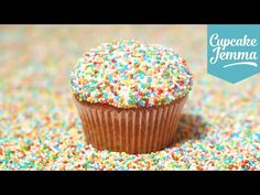 How to Make Funfetti Cupcakes | Cupcake Jemma    NEED TO TRY THEM!