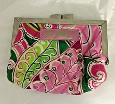 Clutch Wallet, Leather Wallet, Fabric Wallet, Pinwheels, Wallets For Women, Pink Color, Vera Bradley, Cleaning Wipes, Zip Around Wallet