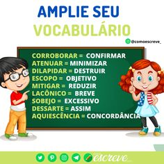 Writing A Book, Writing Tips, Learn Brazilian Portuguese, Essay Tips, I Love School, Portuguese Language, Study Organization, School Painting, Language Study