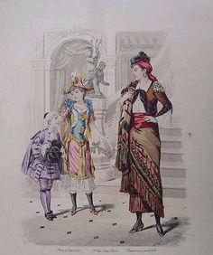 Fancy Dress Costumes, color fashion plate