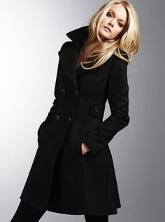 Classic, black, long Peacoat from Victoria's Secret - I'd love a long knee length peacoat :)))    (Does not need to be this EXACT, just something similar.)