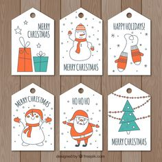 Merry Christmas Happy Holidays, Christmas Tag, Christmas Design, Party Kit, Party Bags, Xmas Crafts, Paper Crafts, Gift Wrapper, Christmas Graphics