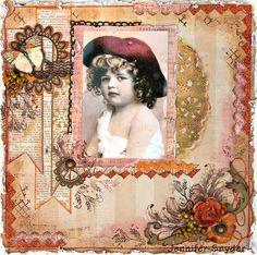 Girl In Curls - Scraps of Darkness - Colorful Creations - Scrapbook.com