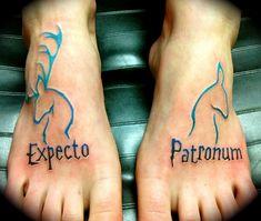 Amazing Harry Potter Expecto Patronum Tattoo On Feet Amaz. - Amazing Harry Potter Expecto Patronum Tattoo On Feet Amazing Harry Potter Exp - Expecto Patronum Tattoo, Expecto Patronum Harry Potter, Harry Potter Tattoos, Harry Potter Couples, Literary Tattoos, Tribal Tattoos, Tattoos Geometric, Tattoos Skull, Nerdy Tattoos