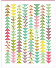 """This free quilt pattern is called """"Spring House""""."""