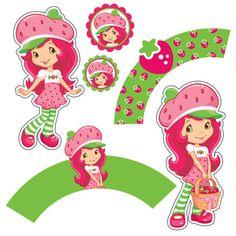Strawberry Shortcake Birthday party cupcake wrappers by BirthdayP, $5.00