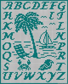 ABC Summer perler bead pattern