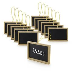 New Star Mini Chalkboards - Perfect for Wedding Place Cards, Party Favors, & Craft Projects, 2-Inch by 3-Inch, Set of 12 New Star Foodservice,http://www.amazon.com/dp/B00GAID5AI/ref=cm_sw_r_pi_dp_3mWstb0TWQ8RADEX