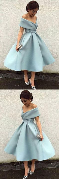 Homecoming Dresses Blue, Prom Dress Short, Prom Dress Cheap - dresses - Home Vintage Homecoming Dresses, Cheap Short Prom Dresses, Prom Dresses 2018, Prom Dresses With Sleeves, Knee Length Dresses, Cute Dresses, Vintage Dresses, Dress Prom, Short Dress Wedding