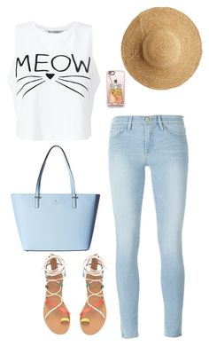 """""""Meow"""" by summerloveforever335 on Polyvore featuring Miss Selfridge, Frame Denim, Kate Spade, Casetify and Flora Bella"""