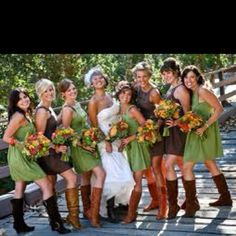 Share_multi color boot idea look good with different color dresses
