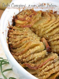 Patate sottili gratinate al forno   ricetta facile contorno vegetarino