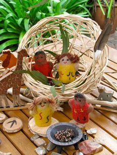 simple baskets for imaginative play, aboriginal finger puppets Aboriginal Education, Indigenous Education, Aboriginal History, Aboriginal Culture, Play Based Learning, Learning Through Play, Educational Activities, Activities For Kids, Preschool Transitions