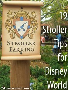 Disney Under 3.   19 Stroller Tips for Your Disney Vacation.  If you must bring a stroller...