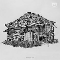 AFSHIN AMINI ART STUDIO | #AfshinAminiArt #PenAndInkDrawing #Sketchbook #Art #Architecture #Drawing #Sketching #PenDrawing #InkDrawing Architecture Images, Vernacular Architecture, Drawing Artist, Painting & Drawing, Medieval, House Sketch, Pencil Art Drawings, Ink Art, Art Inspo