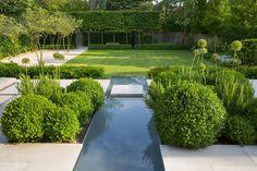 contemporary garden design ideas for small gardens Vegetable Garden Design, Garden Landscape Design, Small Garden Design, Garden Landscaping, Formal Garden Design, Landscape Architecture, Landscaping Ideas, Small Gardens, Outdoor Gardens