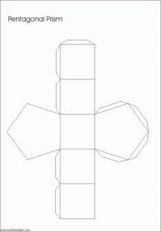 Net pentagonal prism