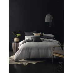 Gemima Duvet Cover Set King Grey