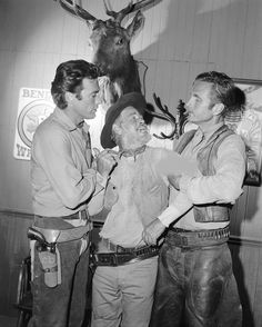 Clint Eastwood, Paul Brinegar and Eric Fleming for Rawhide